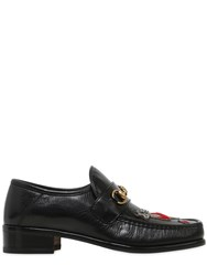 Gucci Vegas Embroidered Patch Leather Loafers