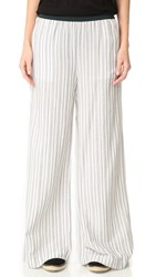 Free People Wide Leg Pull On Pants Black White Combo