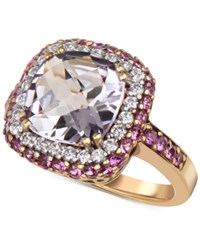 Macy's Rose Amethyst 4 Ct. T.W. Pink Sapphire 9 10 Ct. T.W. Diamond 1 3 Ct. T.W. Ring In 14K Gold Yellow Gold