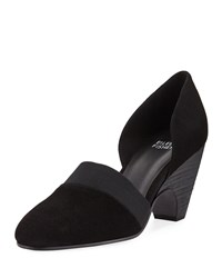 Eileen Fisher Bailey Suede D'orsay Pumps Black