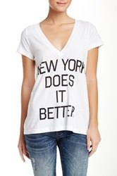 Rebel Yell Ny Does It Better Tee White