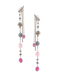 John Hardy Adwoa Aboah Silver And Mixed Stone Classic Chain Drop Pink