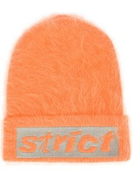Alexander Wang Strict Knitted Beanie Yellow Orange