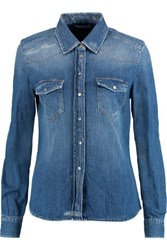 7 For All Mankind Western Denim Shirt Mid Denim