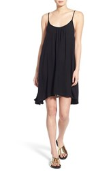 Women's Roxy 'Windy' Scoop Neck Shift Dress True Black