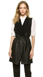 Vince Leather Vest Black