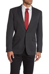 Kenneth Cole Reaction Black Woven Two Button Notch Lapel Blazer 001Blk W