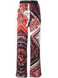 Just Cavalli Paisley Patterned Trousers Black