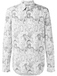Paul Smith Ps By Floral Print Shirt White