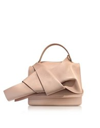 N 21 Nude Leather Crossbody Bag W Iconic Bow On Front