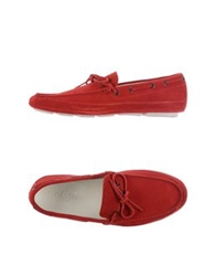 Hogan Moccasins Red