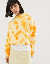 Weekday Ninja Tie Dye Hoodie Orange