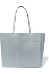 Valextra Shopping Textured Leather Tote Blue
