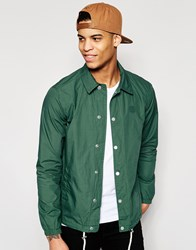 Pull And Bear Pullandbear Coach Jacket In Green With Poppers Green