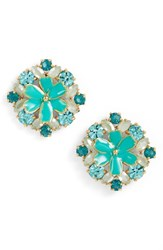 Kate Spade Women's New York Here Comes The Sun Crystal Stud Earrings Blue Multi