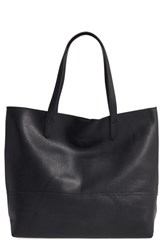Sole Society 'Oversize' Faux Leather Shopper Black