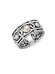 John Hardy Palu 18K Yellow Gold And Sterling Silver Band Ring