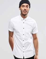 Jack And Jones Jack And Jones Short Sleeve Shirt With Button Down Collar White