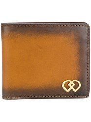 Dsquared2 Dd Branded Wallet Men Leather One Size Brown