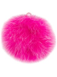 Furla Bubble Pom Pom Jey Ring Pink And Purple