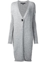 Derek Lam Long Cardi Coat Grey