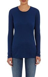 Barneys New York Crewneck Long Sleeve T Shirt Blue