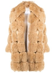 Paco Rabanne Oversized Coat Neutrals