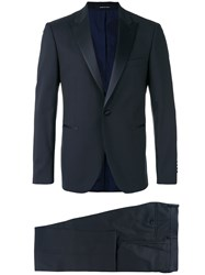 Dinner Two Piece Evening Suit Blue