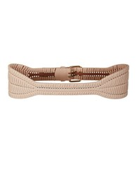 Bcbgmaxazria Whipstitched Faux Leather Belt Bare Pink