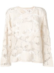 See By Chloe Knitted Top Women Cotton L White