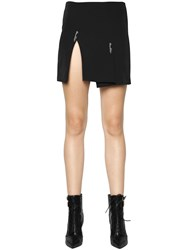 Versus Crepe Envers Satin Skirt W Safety Pins