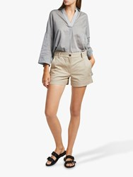 French Connection Ismena High Waisted Shorts Palm Sand