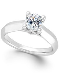 Macy's Certified Diamond Solitaire Engagement Ring In 14K White Or Yellow Gold 1 Ct. T.W. White Gold