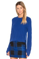 Rag And Bone Valentina Cashmere Crop Sweater Royal