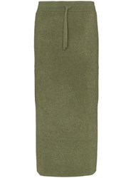 Rejina Pyo Drawstring Midi Skirt Green