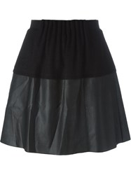 Demoo Parkchoonmoo Faux Leather Panel Skirt Black