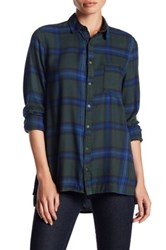 Abound Oversized Flannel Shirt Green W Lis Pld