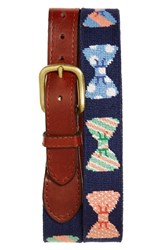 Men's Smathers And Branson 'Bow Tie' Needlepoint Belt