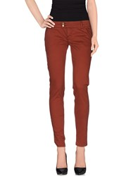 Met And Friends Trousers Casual Trousers Women Brick Red