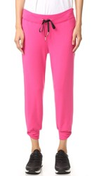 Beyond Yoga Kate Spade Relaxed Cropped Bow Sweatpants Deep Carnation