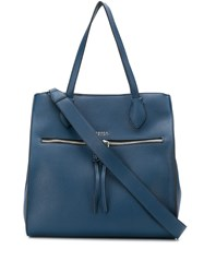 Tosca Blu Textured Shoulder Bag Blue