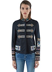 Valentino Beaded Pattern Jacket Black