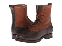 Frye Veronica Duck Boot Espresso Multi Smooth Pull Up Oiled Vintage Women's Lace Up Boots Brown