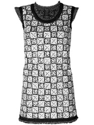 Chanel Vintage Sequinned Knitted Dress Grey