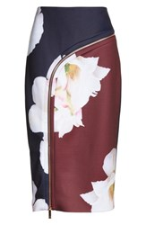 Ted Baker 'S London Gardenia Pencil Skirt Dark Blue
