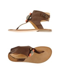 Tatoosh Thong Sandals Dark Brown