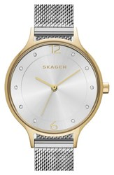Skagen Women's 'Anita' Crystal Index Mesh Strap Watch 30Mm