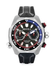 Brera Orologi Pro Diver Stainless Steel And Rubber Strap Watch Silver