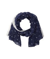 San Diego Hat Company Bss1697 Woven All Over Anchor Print Navy Scarves