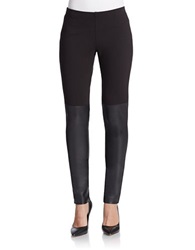 French Connection Hells Leather Panelled Leggings Black